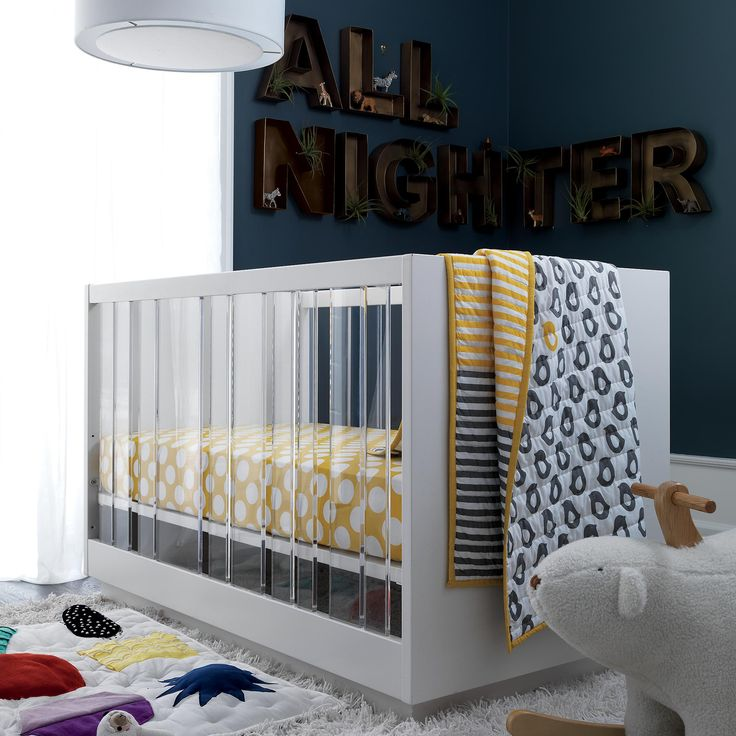 Make a statement in your little ones nursery with modern furniture from The Land of Nod. Sleek cribs, modern rocking chairs, quality dressers and more.