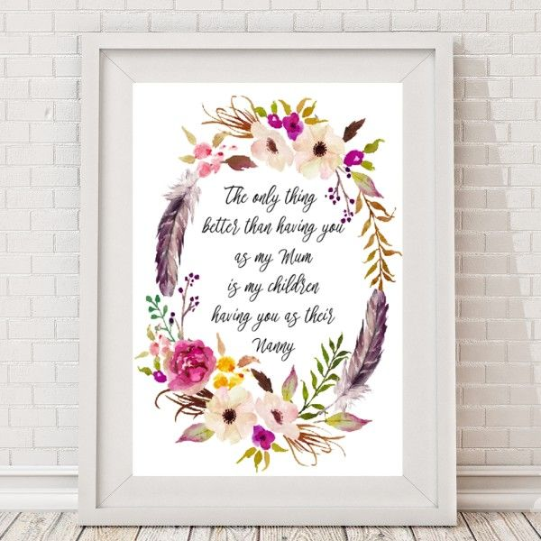 The only thing better.... Nanny, Grandma Personalised Print