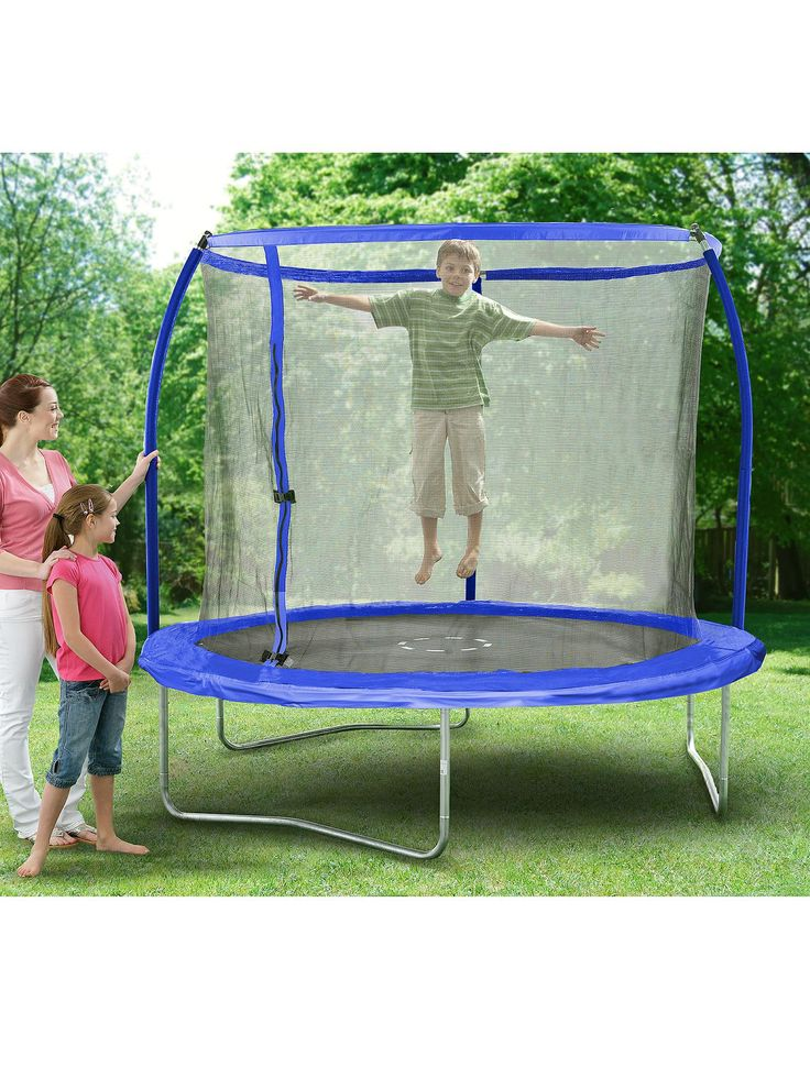 Sportspower 8 ft Quad Lok Skyring Trampoline and Enclosure | very.co.uk