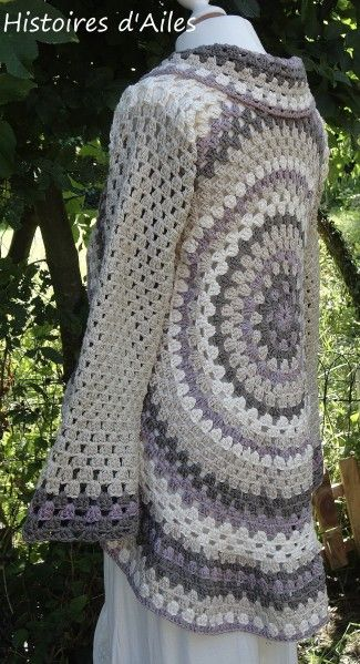 crochet.... I'd make it a vest with no sleeves... Love the color combo