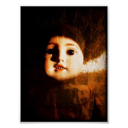 Spooky Creepy Baby Doll Halloween Poster - photography gifts diy custom unique special