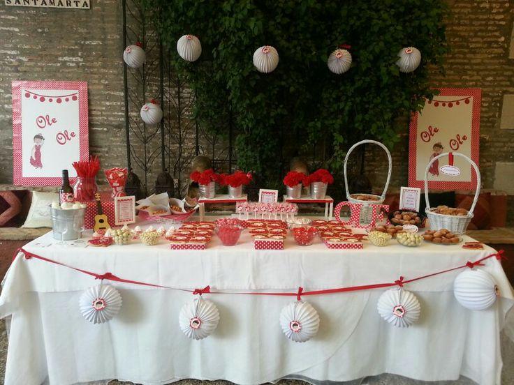 Diseño y decoración de eventos # sevilla # mesa dulce # boda# feria de abril# farolillos