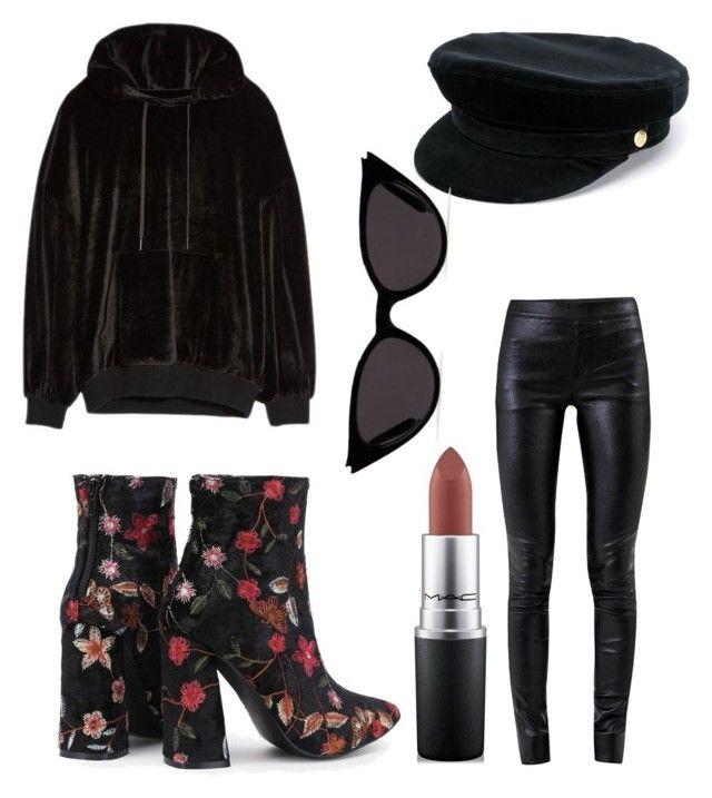 """""""Untitled #128"""" by dariatamasan on Polyvore featuring Helmut Lang, ADAM, Manokhi and MAC Cosmetics"""