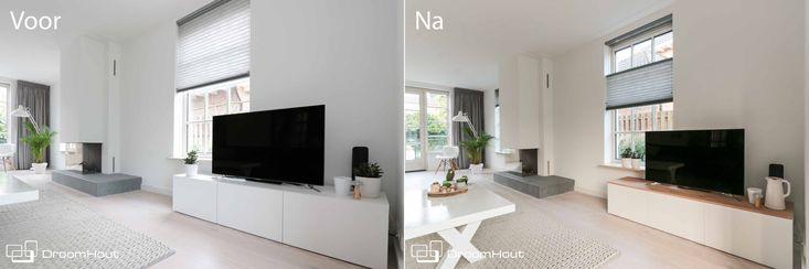 Van IKEA meubel tot JOUW meubel! Wij maken massief houten bladen voor op jou standaard IKEA meubels op maat. #meubels #ikeahack #ikeaideas Ikea idee!