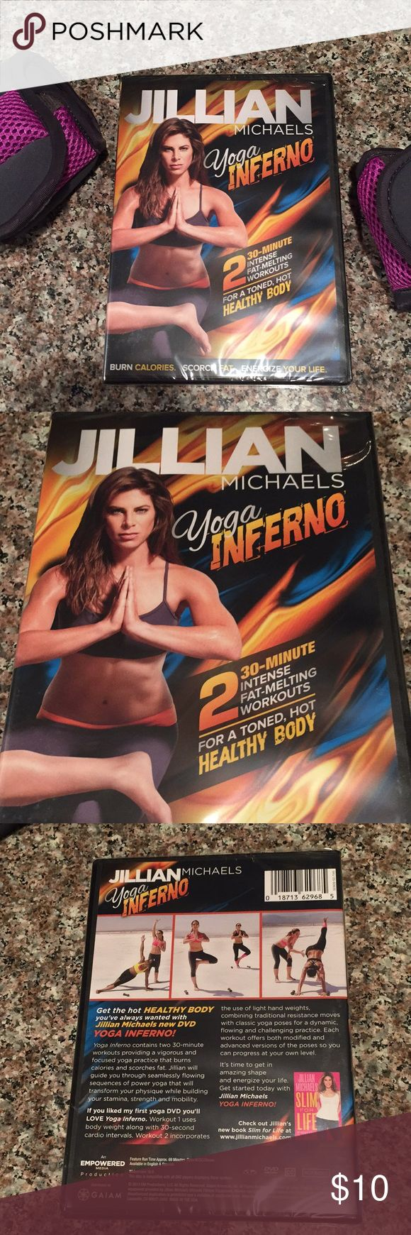 NEW Jillian Michaels YOGA Inferno workout DVD NEW Jillian Michaels YOGA Inferno workout DVD  New, sealed, ready to ship.  Burn calories, scorch fat, energize your life! jillian michaels Accessories