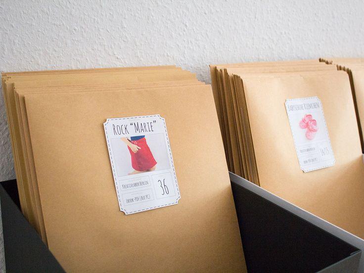 """Gratis-Printable: Etiketten für eure Schnittmuster Mein neues Buch ist da: Ordentlich kreativ! Nähbeispiel aus meinem Buch """"Ordentlich kreativ"""", genäht und fotografiert von http://www.kreativlaborberlin.de (Affiliate link)"""