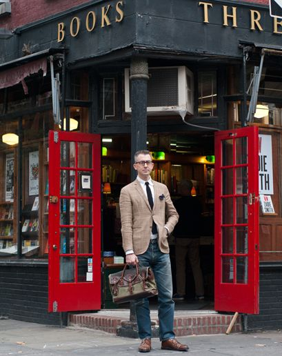 Michael Hainey GQ Deputy Editor; Author ofAfter Visiting Friends  Michael's Prize Possession Orvis Battenkill briefcase