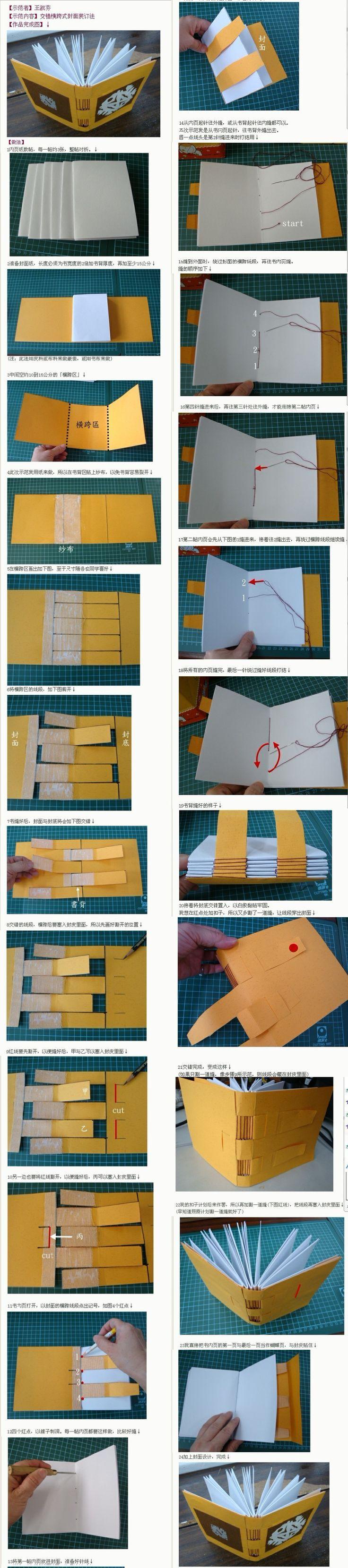 Olá, amados!      Outro tutorial sobre encadernação. A costura é a Longstitch e a capa é chamada de Estrutura Cruzada.  Esta é fei...