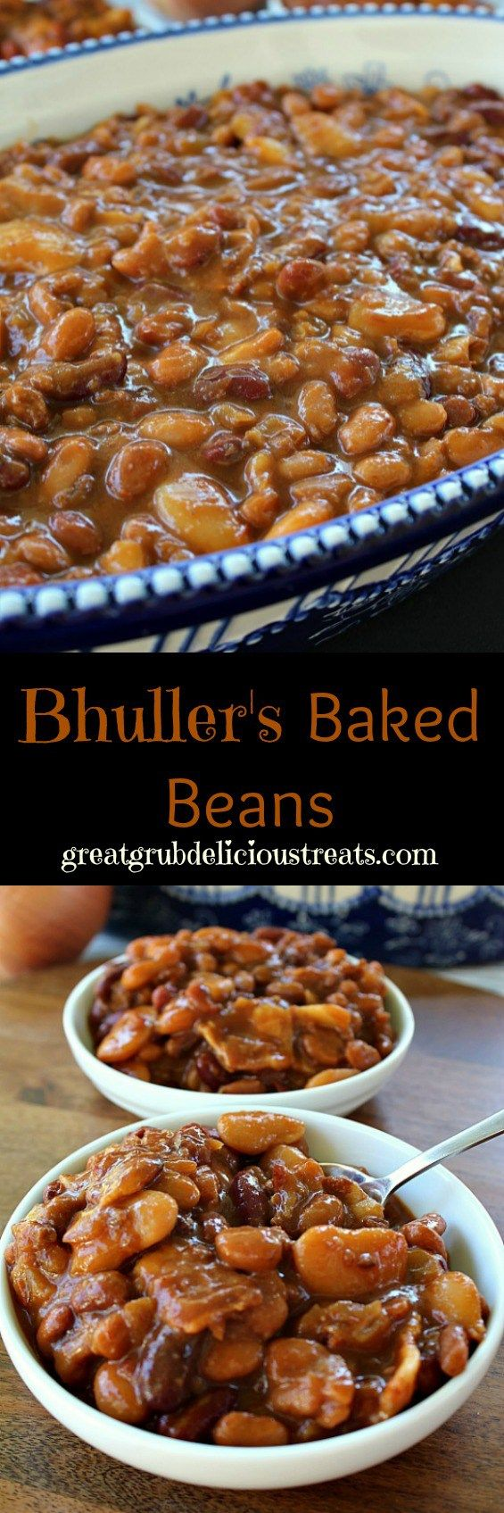 Bhuller's Baked Beans - will make again! Didn't ad corn syrup. Added a little worchestershire. Cut bacon in half and laid on top while baking. Used dark kidney beans, baby butter beans, small pork and beans and large Bush's original baked beans. ~Suz
