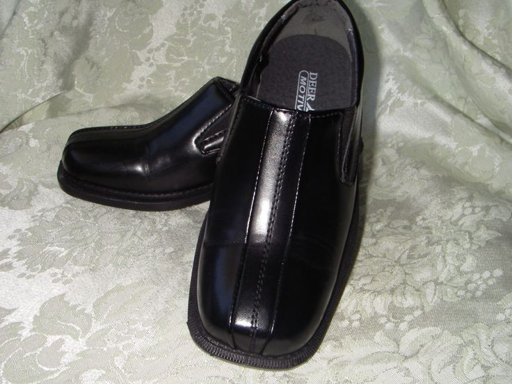size 40 8ffb4 cdfc1 Today Black Boys Dress Shoes 11 Deer Stags Wings Boy fancy Slip-On with  Free Socks ...