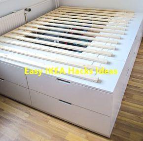 DIY IKEA HACk – Plattform-Bett selber bauen aus…