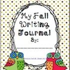 Fall Writing Journal Cover is just that!  But if you like OWLS, this might be the FREEBIE for you! Making your own writing journals couldn't be eas...