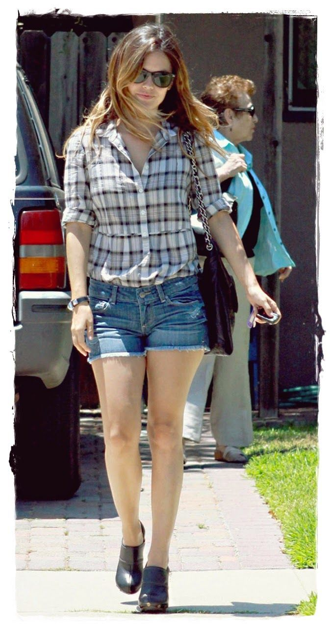 #Rachel #Bilson #Denim #Shorts #Street Style 05