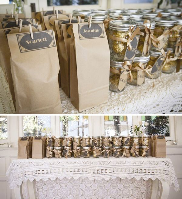 What a cute way to package Ferrero Rocher chocolates for your guests.