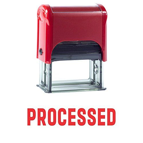 PROCESSED Self Inking Rubber Stamp (Red Ink) - Large