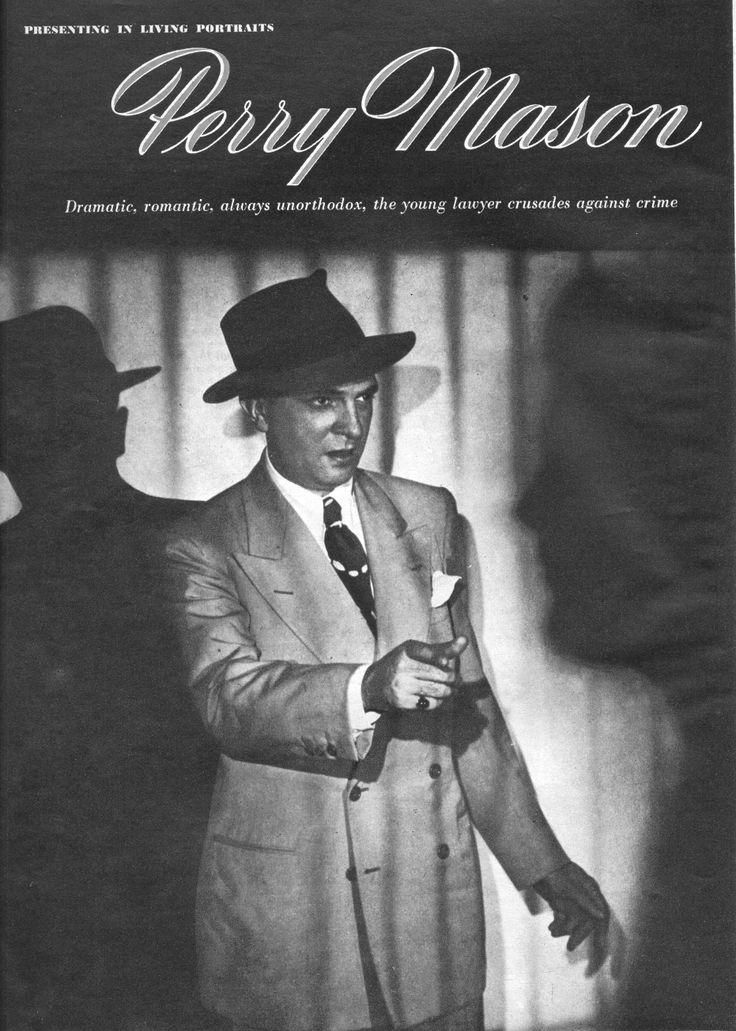 Perry Mason Radio Show.  Santos Ortega as Perry Mason.  From Radio Romances, November 1945.  From the Jim Davidson Collection.
