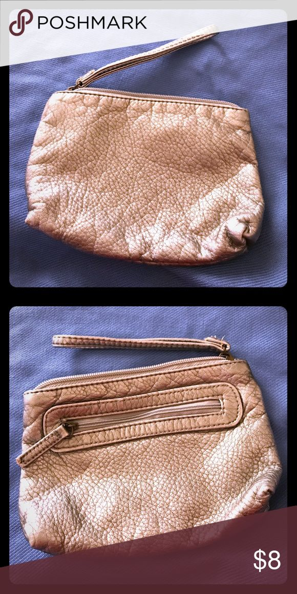 Silver wristlet Silver party wristlet. Really cute for a night out. Never used. Fits an iPhone 7 size. Bags Clutches & Wristlets