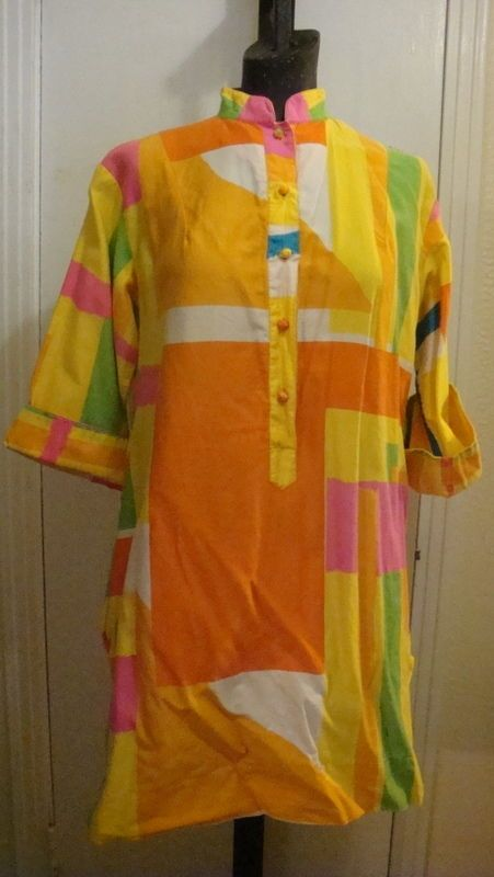 Catherine Oqust Penthouse Gallery Vtg 1960/70's Tunic or Dress  Large…