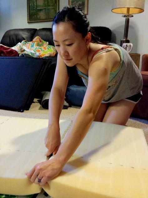 Come Along With Chong: DIY No Sew Patio Seat Cushions