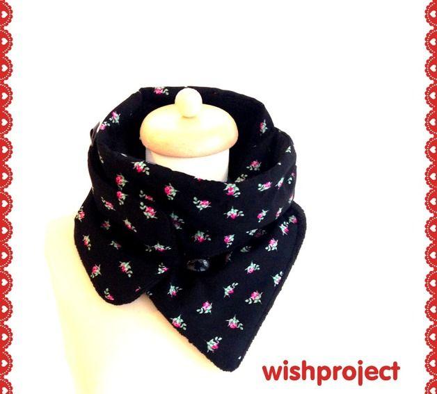 "Schloop ""black Rose"" Kombinationsaccessoire - als Schal oder Loop tragbar http://wishproject-shop.de/Winter/Schloop-black-Rose.html"