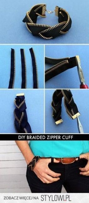 Bracelets made from a jean zipper! #DIY