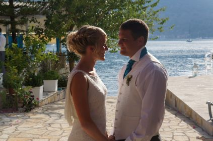 Lefkas Weddings - L&W wedding at Seaside Restaurant Lefkada