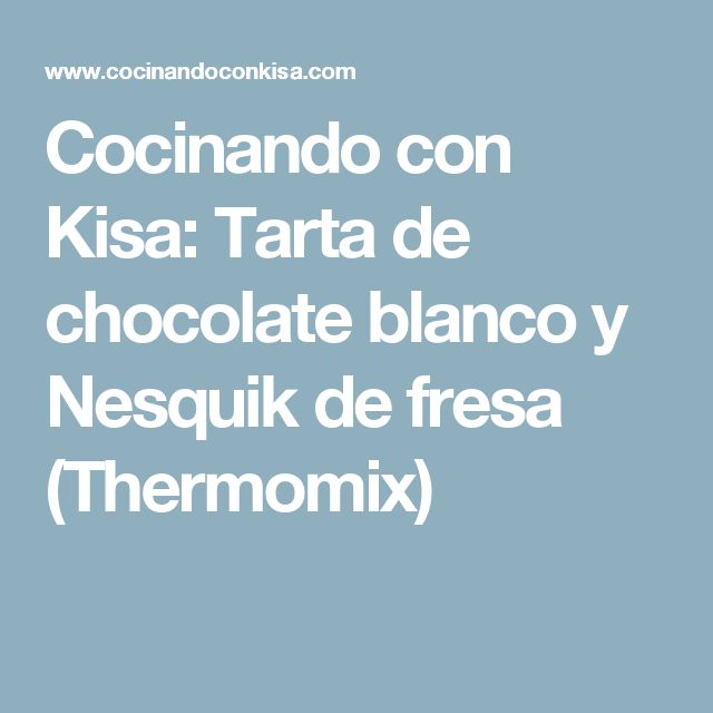 Gateau au chocolat nesquik thermomix