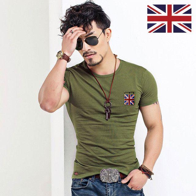 MYDBSH Brand Men T Shirt Cotton Union- Jack Clothing Male Slim Fit Tee shirt Man England Flags T-Shirts Skateboard Swag Clothing