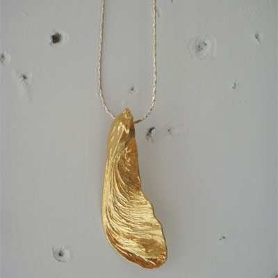 Gold Maple Key Necklace