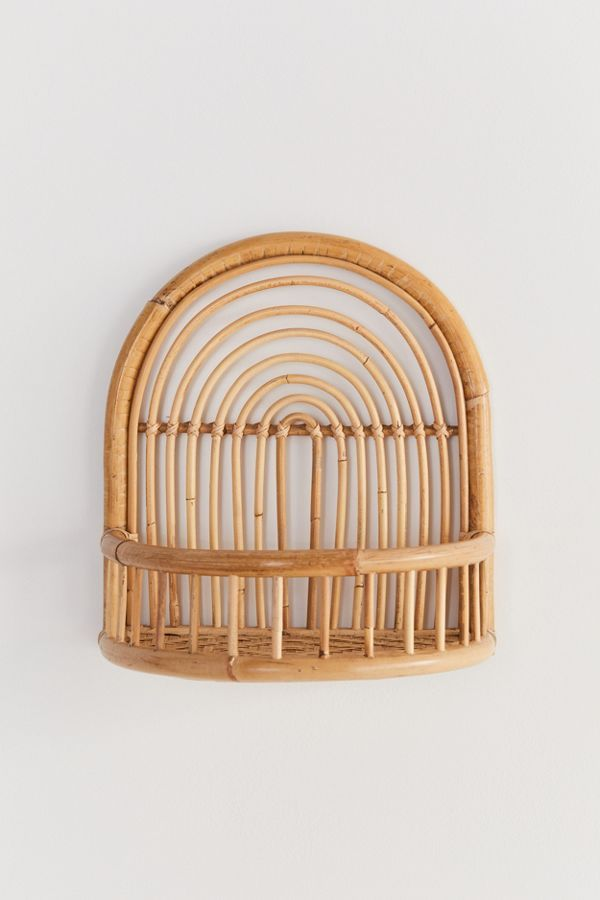 Wall Storage Shelving Urban Outfitters In 2020 Rattan Regal
