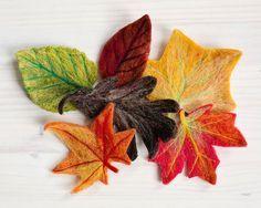 Fall Leaves Needle Felting Kit by Felted Sky Studio by FeltedSky