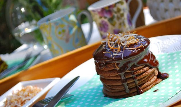 Yep. We said Paleo Chocolate Banana Pancakes. The best kinda pancakes in the whole entire world. Totally flippable and oh so delicious!