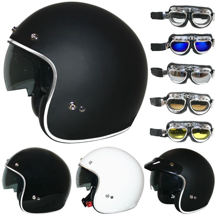 LEOPARD LEO-601 Open Face Scooter Motorbike Motorcycle Helmet Goggles Optional