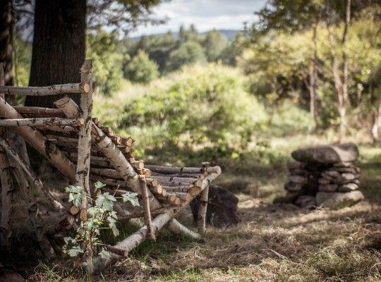 Meditatie in de tuin v landhuis Antoniow