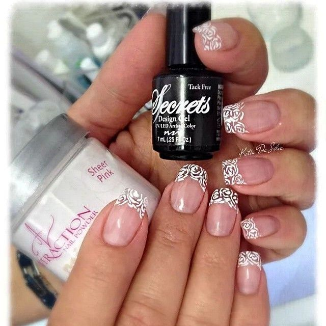 106 best nsi secrets nail art system images on pinterest sanat a twist on a classic french mani add a design on the tip with design prinsesfo Gallery