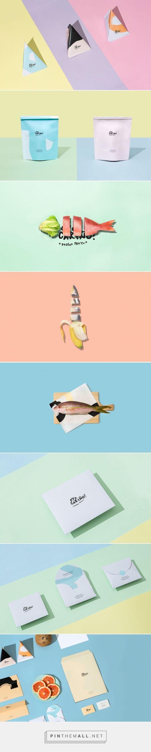 Oye Cariño / seafood restaurant // branding + identity design + package design + portfolio layout