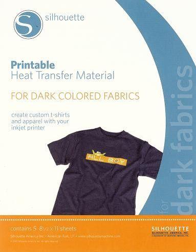 Silhouette HT Material : Printable Heat Transfer - Dark