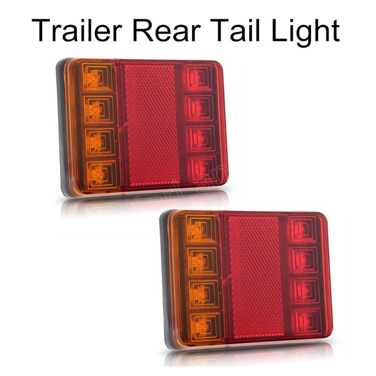 Best new arrival hot sale pcs Waterproof LED Taillights Rear Tail Light DCV for Trailer