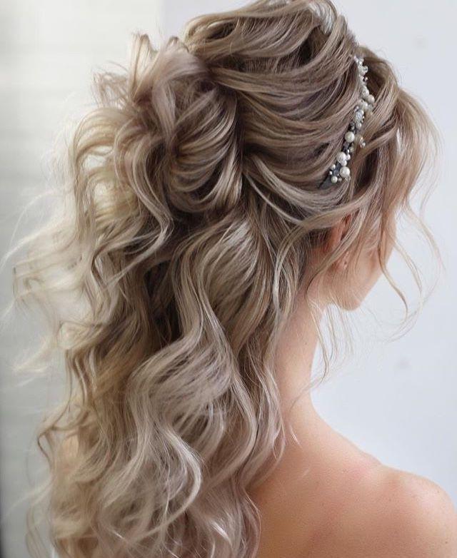 40 Stunning Half Up Half Down Wedding Hairstyles With Tutorial In 2021 Wedding Hairstyles For Long Hair Long Hair Styles Hair Styles
