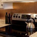18 in. x 24 in. Hammered PVC Decorative Backsplash Panel in Polished Copper