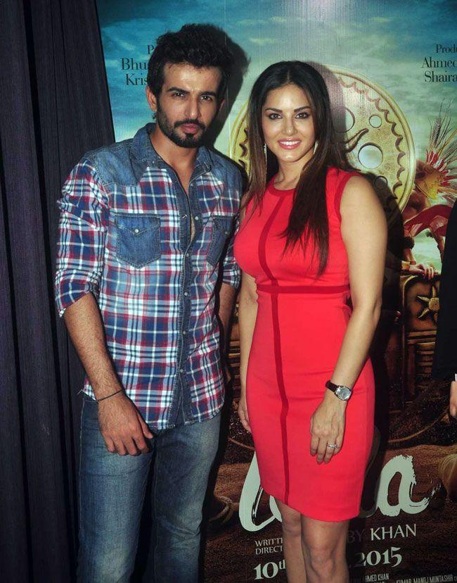 Jay Bhanushali and Sunny Leone while promoting 'Ek Paheli Leela'.
