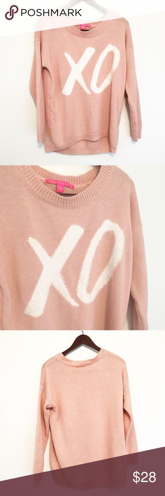 Selling this Blush Pink/Dusty Rose XO Sweater Rebellious One on Poshmark! My username is: closetcrisistx. #shopmycloset #poshmark #fashion #shopping #style #forsale #Rebellious One #Sweaters