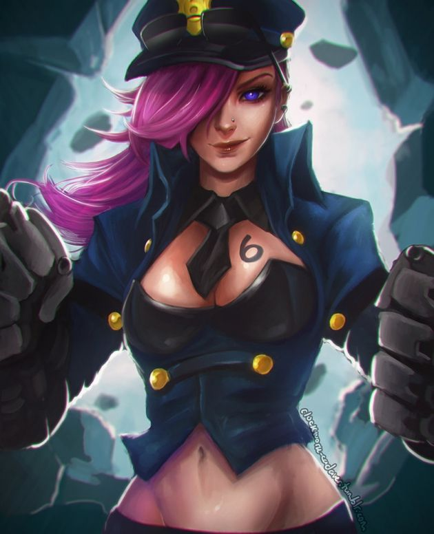 Officer Vi fan art | League of Legends | Pinterest | Fan ...