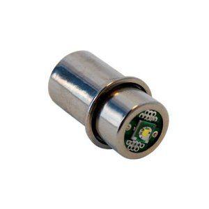 HQRP Ampoule LED 3w à haute puissance pour Maglite 2-3 D 2-3 C cellules Lampes de poche; remplacement de la lampe au xénon / halogène