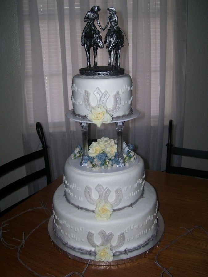 2nd marriage wedding cakes this is my second wedding cake the wanted a western 10115