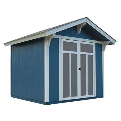 Heartland Prestwick 8-ft x 10-ft Gable Engineered Wood Storage Shed