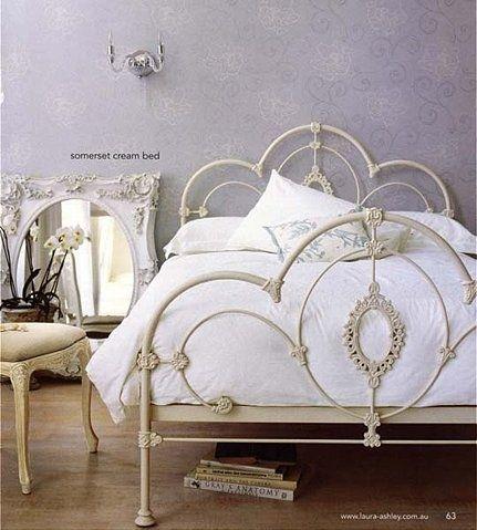 LOVE cast iron beds.