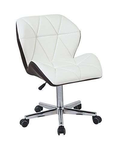 Swell Hnnhome Modern Uranus Padded Swivel Leather Computer Desk Andrewgaddart Wooden Chair Designs For Living Room Andrewgaddartcom