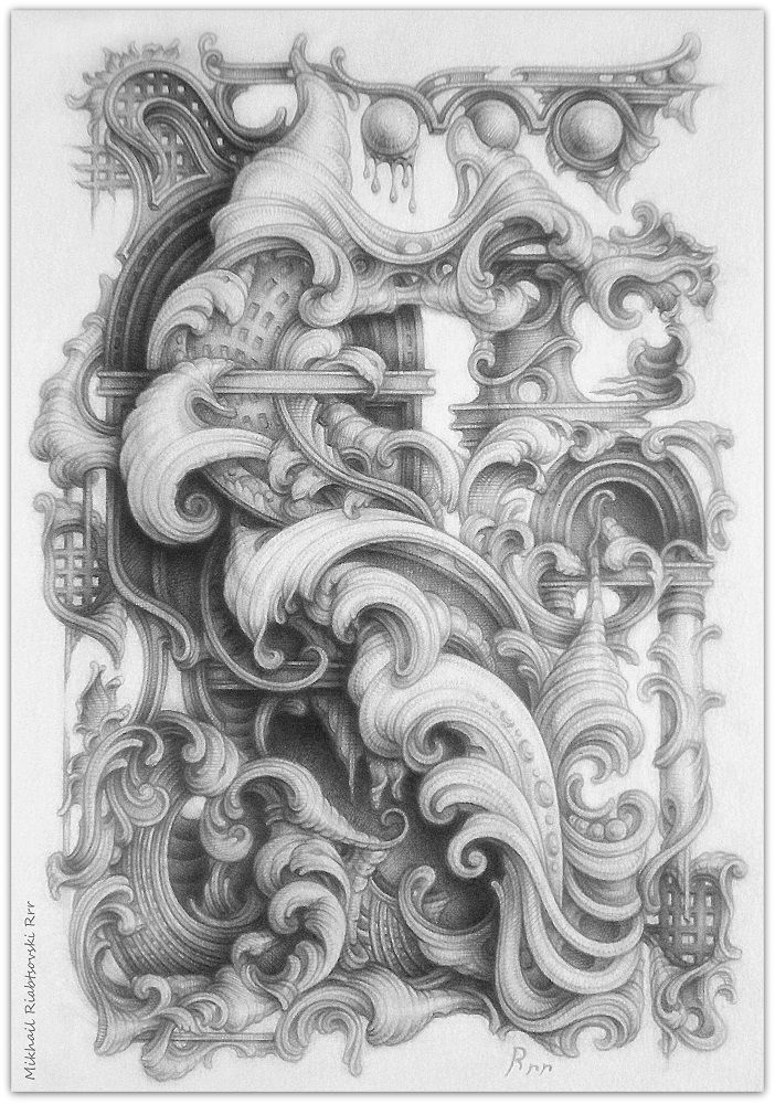 Drawing By Mikhail Riabtsovski Rrr Modern Interpretation Of The Baroque Style V 2020 G