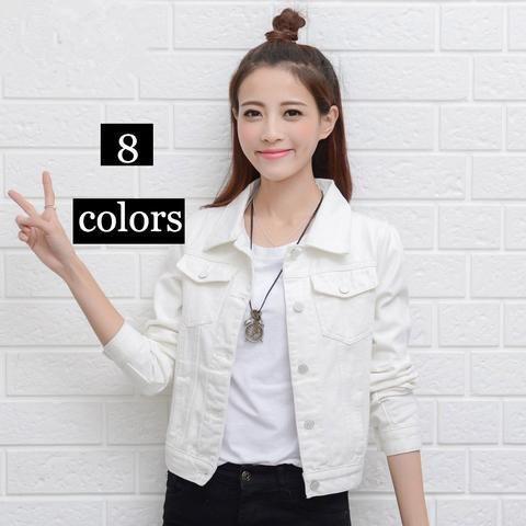 05518a1da2f Jacket Black Short Jeans Overcoat Ladies Girls Slim